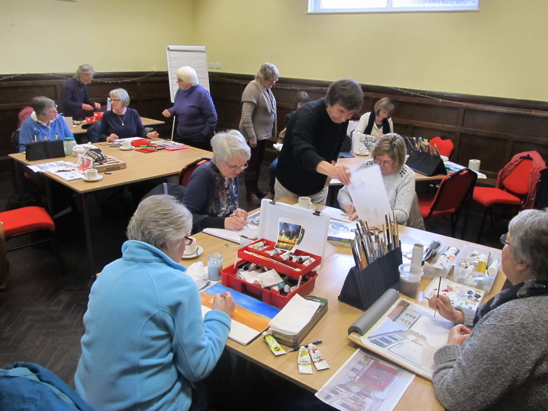 Art group guests