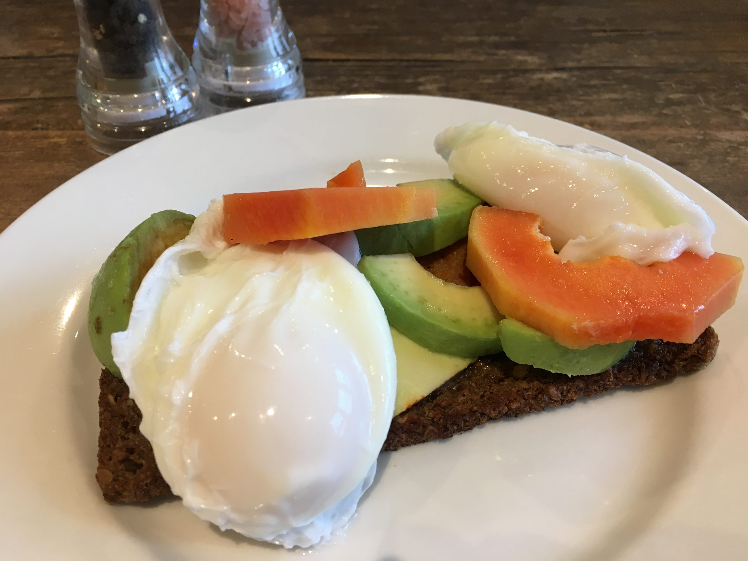 Poached on rye